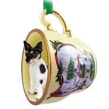 rat terrier ornament figurine teacup