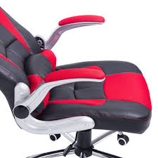 homcom racing office chair adjustable recliner high back swivel