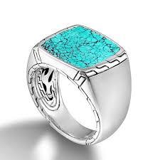 men rings jewelry images John hardy turquoise signet ring jpg