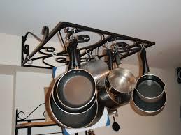 kitchen style hanging rack ceiling pan rack pot hanger hooks pot