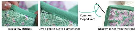 How To Blind Stitch By Hand Binding Basics Part 5 Hand Stitching The Binding To The Back