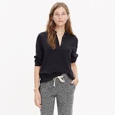 popover blouse silk cinema popover shirt sale madewell