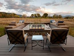 Tall Deck Chairs And Table by Outdoor Fire Pits And Fire Pit Safety Hgtv