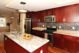 backsplash cherry oak kitchen cabinets red cherry kitchen