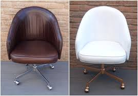 Leather Office Armchair Chic Diy Painted Leather Office Chair