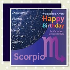 zodiac heavenly happy birthday cards scorpio 24th october