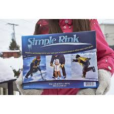 simple rink 10 u0027 x 20 u0027 backyard skating rink adlonco holdings inc