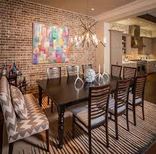 Dining Room Tile by Best Brick Wall Tiles With Tribal Printed Bench For Southwestern