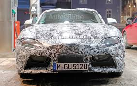 toyota supra toyota supra spied up close revealing more details autoguide com