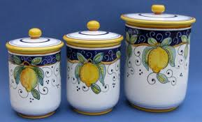 ceramic canisters sets for the kitchen this limone italian ceramic canister set looks great in almost any