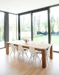 Eames Chair Dining Table Wooden Dining Table With Black Plastic Chairs Search