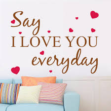 popular wall art stickers quotes buy cheap wall art stickers wall decal i love you everyday heart words large nice wall sticker quote vinyl wall art