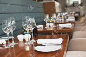 Dining Table Set Up Formal Dining Table Set Up In Stylish Luxury Restaurant Selective
