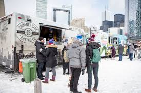 food trucks at roundhouse winter craft festival toronto