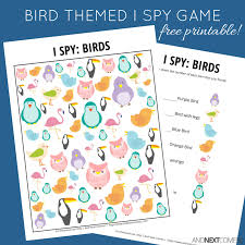 bird themed i spy game free printable for kids and next comes l