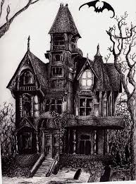 House Drawings by Drawn Haunted House Pencil And In Color Drawn Haunted House