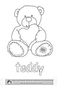 build bear coloring pages kids coloring