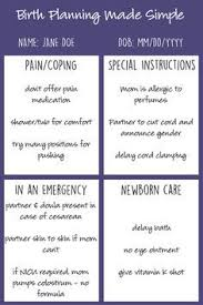 here u0027s a printable birth plan that your doctor will be happy to