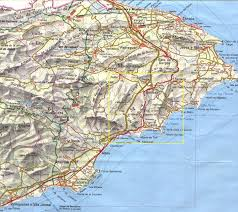 Geography Map Costa Blanca Road Map And Geographic Map Of The Costa Blanca