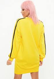 yellow sweater dress yellow sleeve straps sweater dress missguided