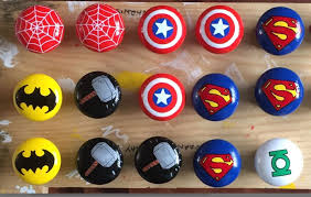 themed knobs marvel dc themed pine painted drawer door knobs handles