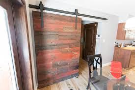 Red Barn Door by Red Grey Hemlock Modern Contemporary Sliding Barn Door Porter