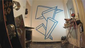 outoftape u0027s wall tape art the menocal triangles youtube