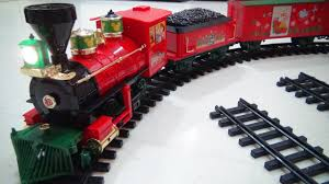 disney christmas train playset video toy review with mickey mouse