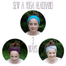 Yoga Headband Tutorial | sew a yoga headband 3 ways the homesteady yoga headband yoga