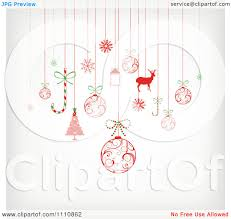 clipart of a retro christmas bauble of holiday items royalty