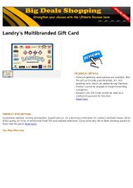 landry s gift card landry s multibranded gift card
