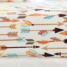 feather and arrow crib sheet fitted crib sheet baby boy sheet
