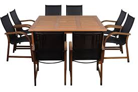 amazon com amazonia bahamas 9 piece eucalyptus square dining set
