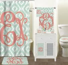 Monogrammed Bathroom Accessories by Monogram Shower Curtain Curtain Collections