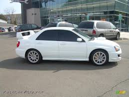 subaru cars white 2005 subaru impreza wrx sti in aspen white 519001 autos of