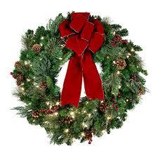 lighted christmas wreath pre lit classic lighted christmas wreath 30 improvements catalog