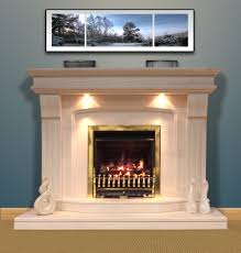 imperial 54 u2033 bespoke limestone fireplace with downlights select