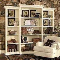 bookshelf decorations wall unit to hold weller pottery and keepsakes accessorizing