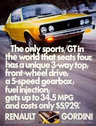 renault gordini r17 1975 ad renault r17 gordini gt 2 door mid size sports car fastback
