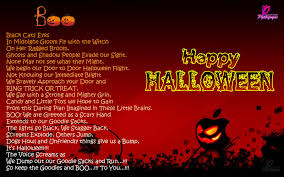 Poem About Halloween Disney Cartoon Characters Happy Halloween Greeting Card For Kids