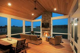 Porch Ceiling Material Options by Choosing The Right Decking Material For A Deck With A Screened Porch