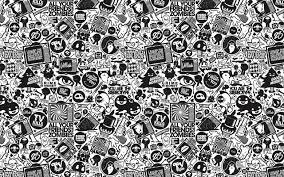 retro black and white design wallpaper 3661