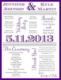 Wedding Ceremony Programs Diy Wedding Program Newsletter So Fun A Real Keepsake Brainy