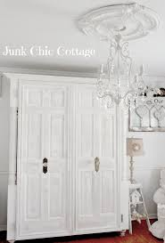 White Vintage Armoire Junk Chic Cottage Re Love Of Old Armoire Doors