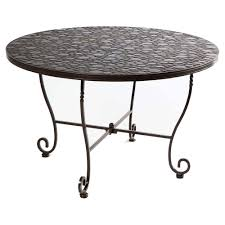 small wrought iron table furniture heavenly outdoor dining room decoration using red stripe