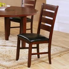 modus bossa 6 piece round dining room set in dark homelegance