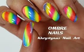 ombre rainbow nails nail art tutorial khrystynas nail art