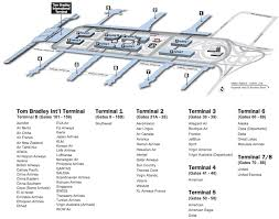 lax gate map lax terminal map one mile at a