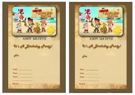 jake neverland pirates birthday invitations oxsvitation