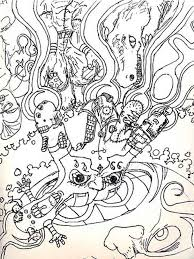 psychedelic coloring pages for adults free printable psychedelic